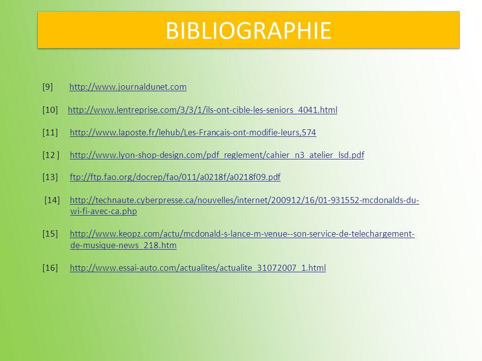 BIBLIOGRAPHIE [9] http://www.journaldunet.com
